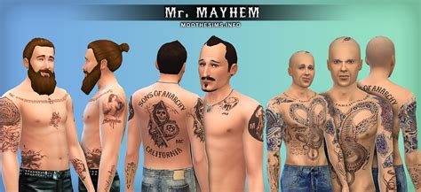 Mod The Sims - SAMCRO Tattoos & Scars Pack
