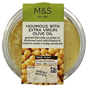 dTest: Marks & Spencer Houmous with Extra Virgin Olive Oil