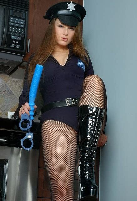Sexy Police Girl Cop Officer Naughty   Flickr - Photo Sharing!
