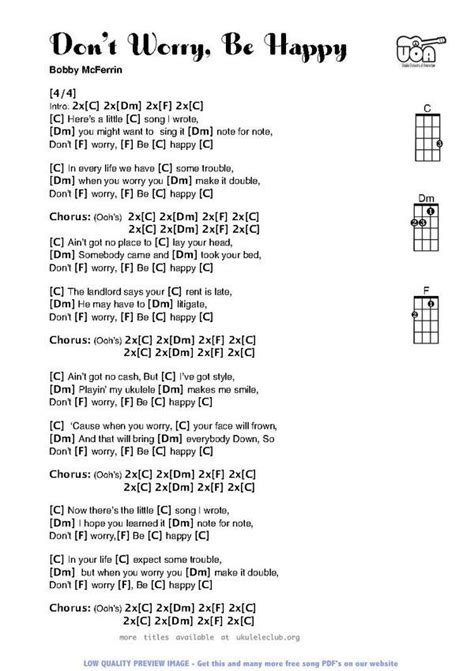 Don't Worry Be Happy   Music Therapy   Pinterest   Ukulele