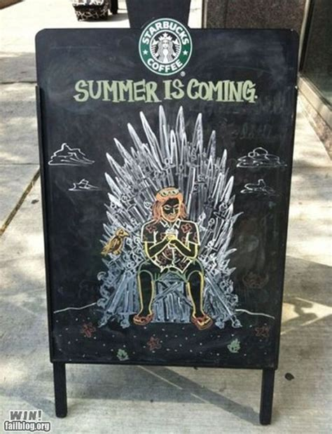 Starbucks' Game Of Thrones Sign: For Honor And Coffee