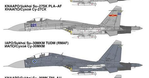 Asia's Su-27/30 Variants Sukhoi's T-10 Flanker family of