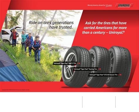 Uniroyal Tire Dealers to Advertise Spring Rebate Promotion