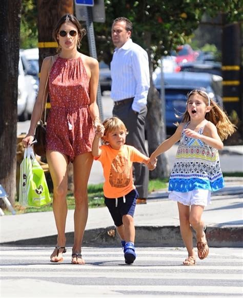 Alessandra Ambrosio Goes Shopping With Her Kids   Celeb