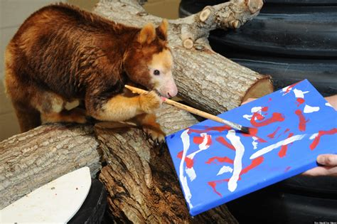 Animals Painting At Zoo Miami For 'Savage' Exhibition