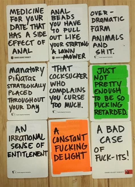 Awesome and hilarious funny ideas to write on blank cards