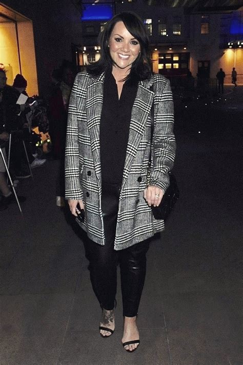 Martine McCutcheon attends The One Show Studios - Leather
