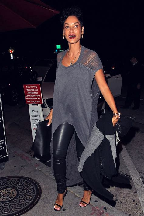 Nicole Murphy arriving at Craig's Restaurant - Leather