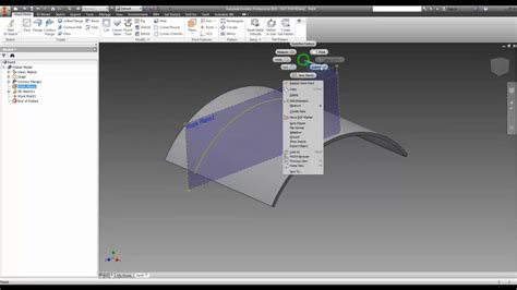 Inventor - Holes in a Sheetmetal Curve - YouTube