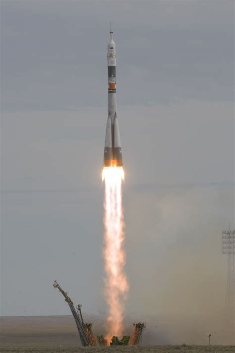 Photos: Soyuz Rocket thunders off with next ISS Crew