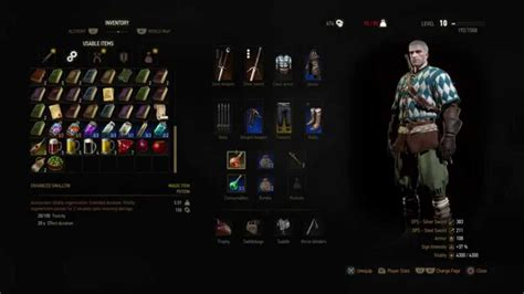 The Witcher 3 - Craft Enhanced Swallow (Ingredients
