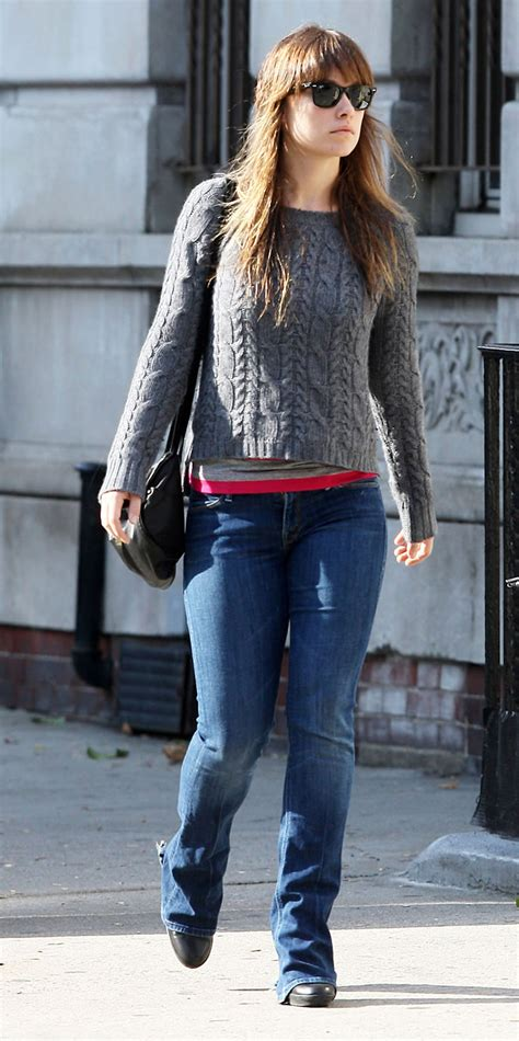 Olivia Wilde Candid in Jeans Out and About in New York