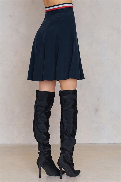 Tommy Hilfiger Synthetic Josie Skirt in Midnight (Blue) - Lyst