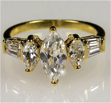 Burke Marquise and Baguette Engagement Ring   2