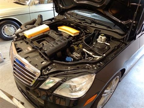 DIY w212 Mercedes e350 Air Filters replacement maintenance