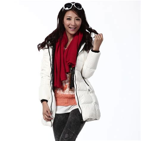 Women Down Jackets Middle Length White $87