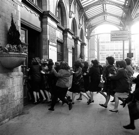 1964: Fans Chase The Beatles Into London's Marylebone