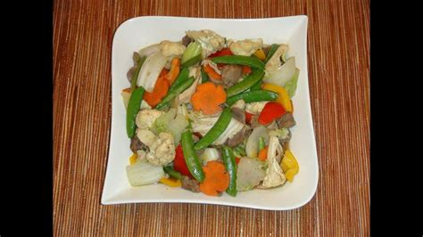 PINOY RECIPE - CHOP SUEY [STIR FRY MIXED VEGETABLES WITH