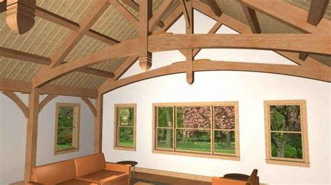 King Post Truss with curved chord   Timberpeg Timber Frame
